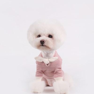 [T.쁘띠스카프티셔츠]petit scarf stripe T_Pink