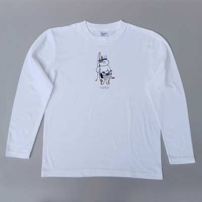 Fisher cat & All you nedd is coffee 긴팔티셔츠 (white)