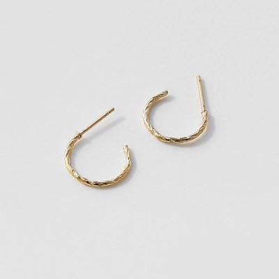 pattern ring earrings (2size 2colors)