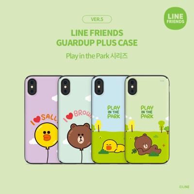 LINE FRIENDS정품 가드업플러스 플레이 인 더 파크 시리즈 ver.5