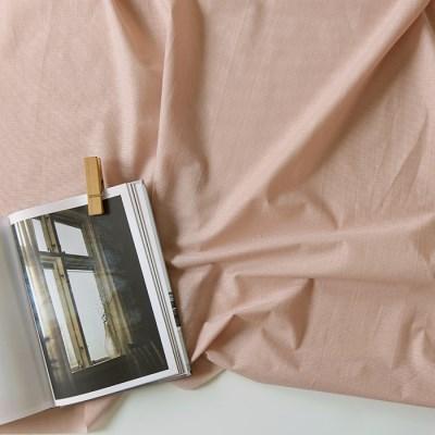 [Fabric] 코튼폴리 혼방 솔리드 핑크 Blending Solid Pink Pearl