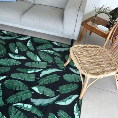 라이크리빙 트로피컬 리프 여름 거실 디자인 러그_(1437801)