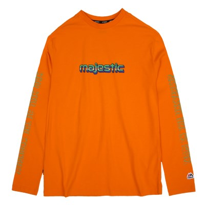ML191UCATS014 UNI 레터링 긴팔 티셔츠 (오렌지)
