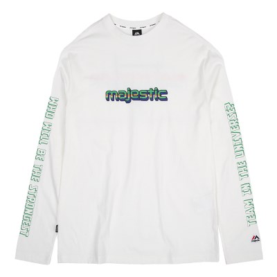 ML191UCATS013 UNI 레터링 긴팔 티셔츠 (화이트)