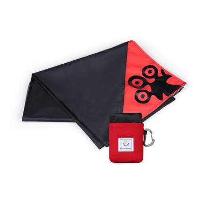 4몬스터 POCKET BLANKET_RED