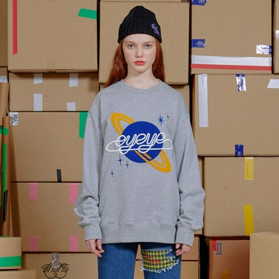 SPACE EMBROID FLEECE LINED SWEATSHIRT_GREY (EEON3WSR02W)