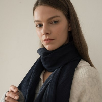 tem scarf-navy