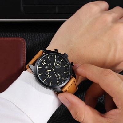 [쥴리어스 옴므] JAH-099 남성시계 손목시계 가죽밴드