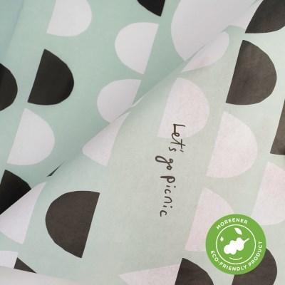 고급 친환경 포장지 아이스크림 포레스트 (3장)