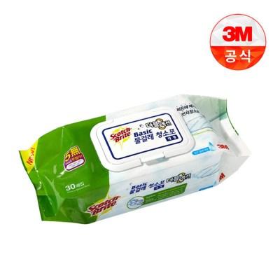 베이직 물걸레 청소포 더블액션 / 대형 / 30매