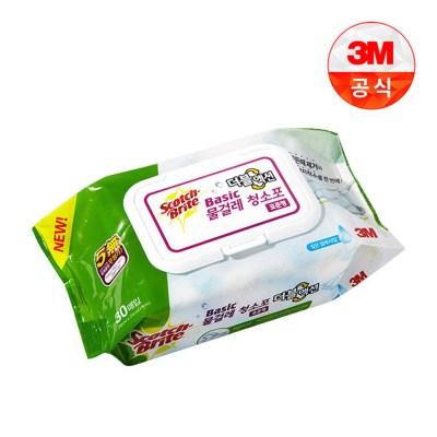 베이직 물걸레 청소포 더블액션 / 표준형 / 30매