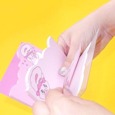 에스더버니 핑크메모패드(4가지 디자인 1세트)