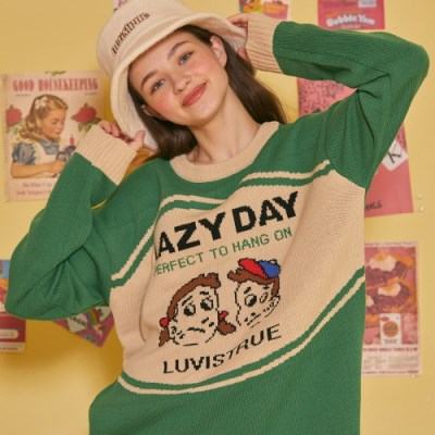 LZ LAZY KNIT(GREEN)_(4063213