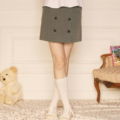 LZ BUTTON SKIRT(GRAY)_(4063277)
