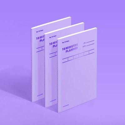 [모트모트] 텐미닛 플래너 31DAYS 컬러칩 - 바이올렛 3EA