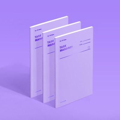[모트모트] 태스크 매니저 31DAYS 컬러칩 - 바이올렛 3EA