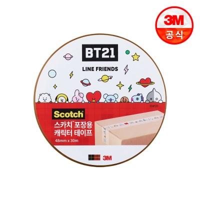 BT21 스카치 포장용 캐릭터 테이프_투명ㅣ48mm x 30m