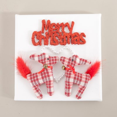 드라이쿠션사슴액자 15cmP 크리스마스 액자 TRFAHM_(1457940)