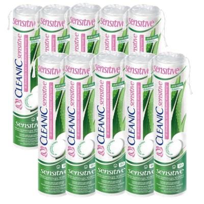 클레아닉 폴란드 100% 순면화장솜 알로에베라 110매x10sets
