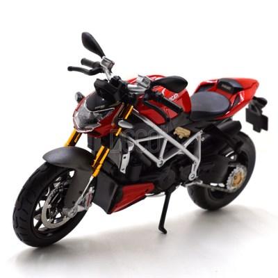 1:12 DUCATI 스트리트 파이터 S 오토바이 미니카