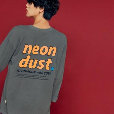 NEONDUST. 19F Long T-Shirt DARK GRAY