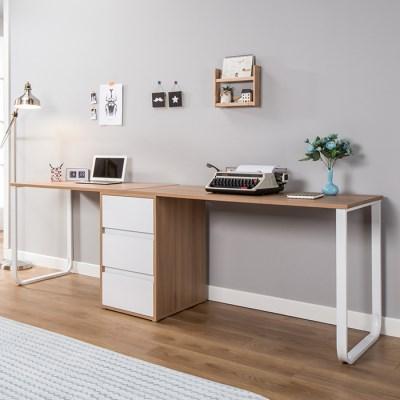 BZ 멀린 2인 스틸 서랍 책상세트 2200