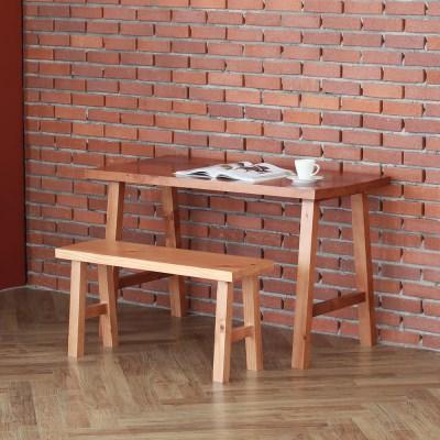 [리코베로]라가초 소나무원목 빈티지 책상의자세트 1200 2컬러