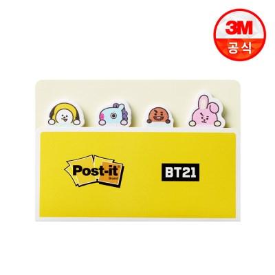 BT21 포스트잇 플래그 분류용(종이) 670_옐로우ㅣ80매 x 4패드