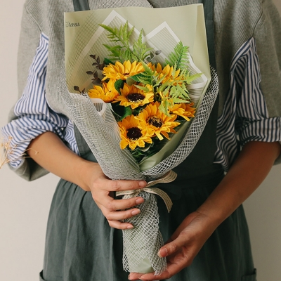 리코 해바라기 비누꽃다발_꽃선물,개업선물,축하꽃다발_(100820003)