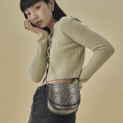 Kate 2way mini bag_snake grey
