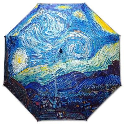 차광율99.9%암막카본초경량골프우양산_우블리-고흐-별이 빛나는 밤