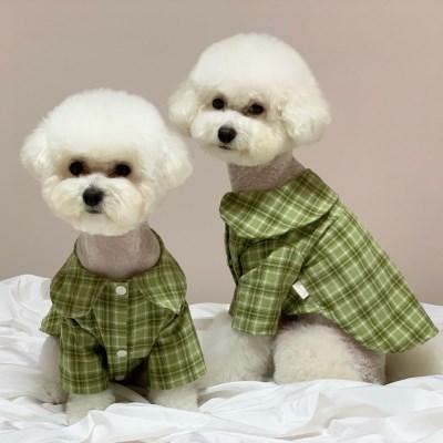 러블리댕댕 강아지 가을체크셔츠