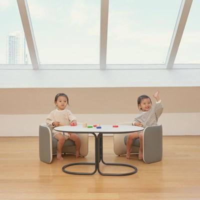 [스몰비디자인랩] 유아 소파&테이블 세트 디오 2인