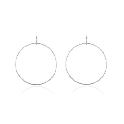 Tow Ring Earring - Silver