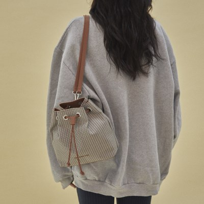 Carrie 3way bucket bag_check camel