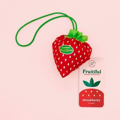 [럭키스] 휴대용 장바구니 접이식 시장가방 딸기_(1753977)