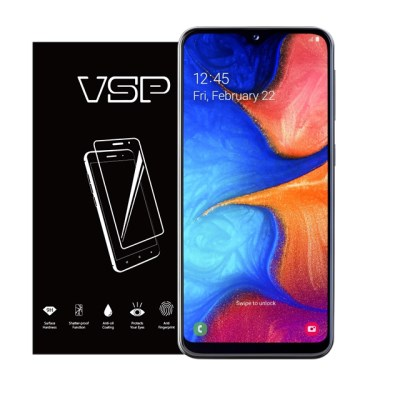 VSP 갤럭시A20E 2.5D 강화유리 액정보호필름 1매 블랙
