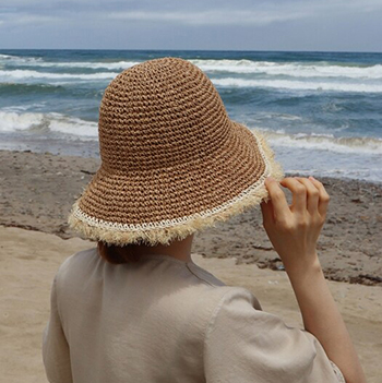vintage bucket hat - ivory