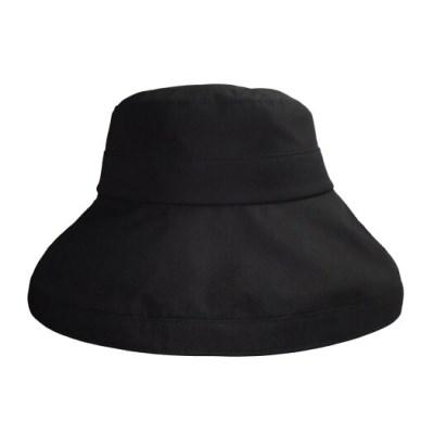 cotton bucket hat - black