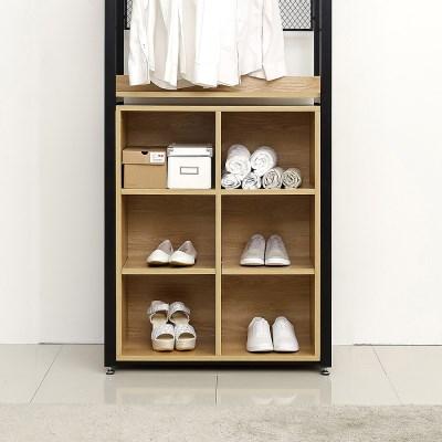 래티코 철제 드레스룸 시스템옷장 오픈장 6칸 800_(13678579)