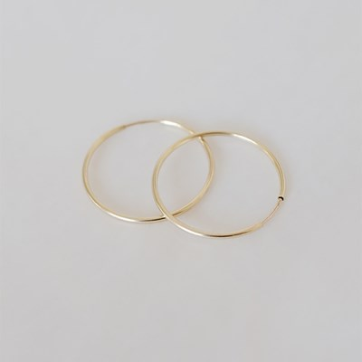 Goldfilled 24mm Pipe Earring