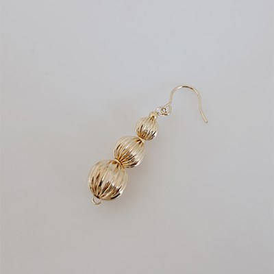 Pleats Ball earring Ver.2