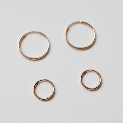 Rosegold 12mm, 16mm Pipe Earring