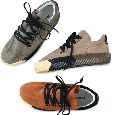 kami et muse Star punching suede sneakers_KM19w038