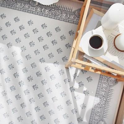 페이즐리 패턴 극세사 러그 - 3color
