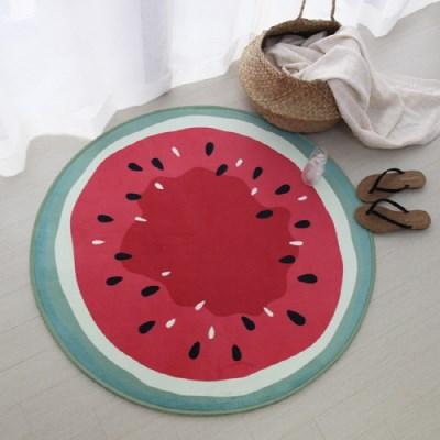 수박 극세사 원형 러그 - 1color