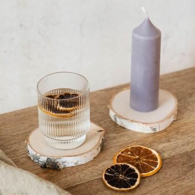 자작나무 우드 코스터(2 size) / 캔들 컵 화분 받침