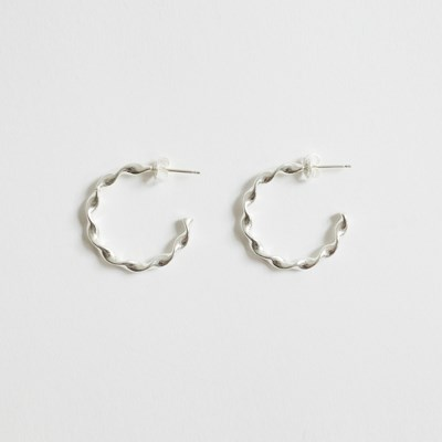 Twist 925 Silver Ring Earring