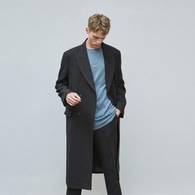 CLASSIC DOUBLE LONG COAT_BLACK