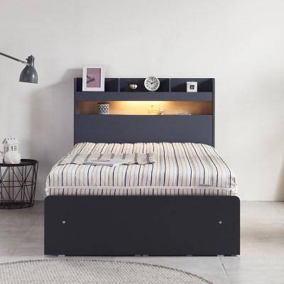 알렉스 천연 라텍스/LED/서랍형 침대 퀸